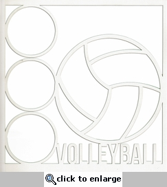 All Star: Volleyball 12 x 12 Overlay Laser Die Cut