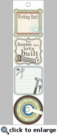 Father: Men at Work Cardstock Sticker