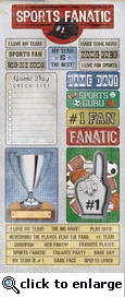 Man Cave: Sports Fan 5 x 12 Sticker Sheet