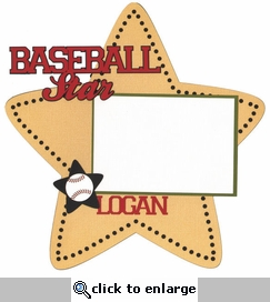 Custom Baseball Star 12 x 12 Layout Laser Die Cut