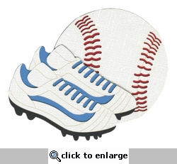 Baseball with Shoes Laser Die Cut