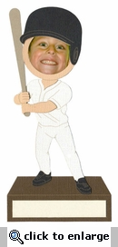 Bobblehead Baseball Photo Frame Laser Die Cut