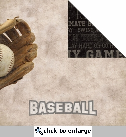 Sport: Baseball 12 x 12 Double-Sided Paper