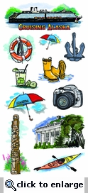 Alaska Cruise Tour Stickers