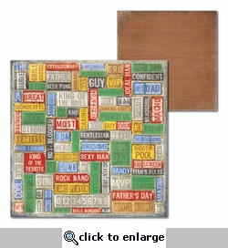 Man Cave: Every Man 12 x 12 Double-Sided Cardstock
