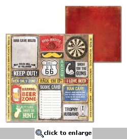 Man Cave: Man Cave 12 x 12 Double-Sided Cardstock