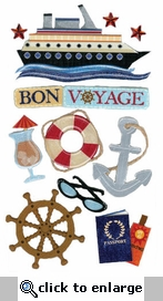 Bon Voyage Jolee's Boutique Dimensional Stickers