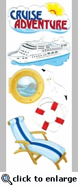 Cruise Adventure Jolee's Boutique Dimensional Stickers