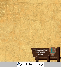 National Parks: Yellowstone National Park 12 x 12 Double-Sided Paper