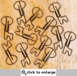 Engraver Shaped Metal Paper Clips