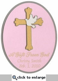 Custom Baptism Girl Laser Die Cut