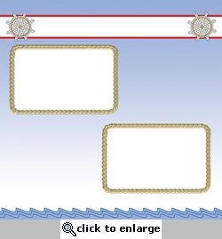 Nautical Rope Frames 12 x 12 Paper