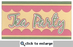 Tea Party Laser Die Cut