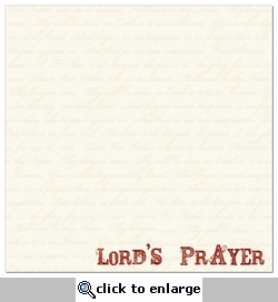 Lord's Prayer 12 x 12 Double-Sided Paper