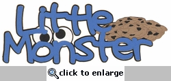 Kids: Little Monster Laser Die Cut