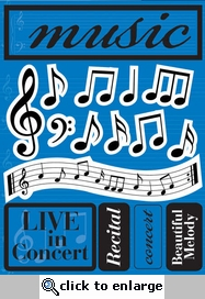 Music 3D Sticker