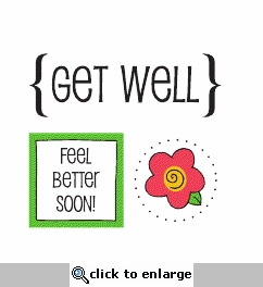 Quick Cards: Get Well Sticker