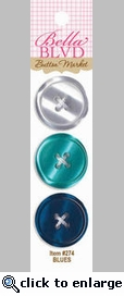 Button Market: Blues Plastic Buttons