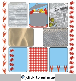 LOBSTER FEST: 12 x 12 JOURNALING CARDS