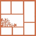 Wish Upon A Starfish 12 x 12 Overlay Laser Die Cut