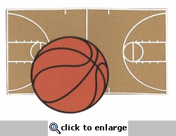Basketball Court And Ball Laser Die Cut
