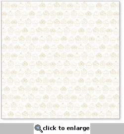 Sweet Cupcakes: Antique White 12 x 12 Overlay