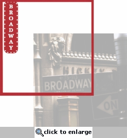New York: Broadway 12 x 12 Overlay Quick Page Laser Die Cut