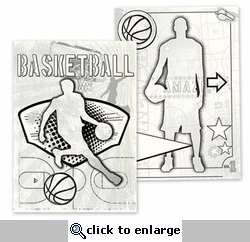 Get Your Game On: Basketball Canvas Colorables