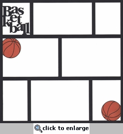 Basketball 12 x12 Photo Overlay Laser Die Cut