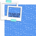 At The Airport: Traveler Not Tourist  2 piece Laser Die Cut Kit