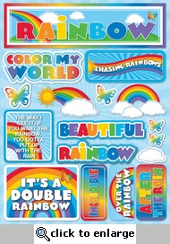 Rainbows 3D Sticker