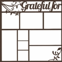 Grateful 12 x 12 Overlay Laser Die Cut