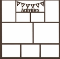 Fall Activities 12 x 12 Overlay Laser Die Cut