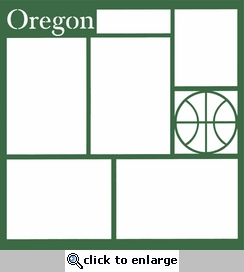 Basketball: Oregon 12 x 12 Overlay Laser Die Cut