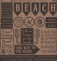 Black & Kraft Beach Sampler 12 x 12 Cardstock
