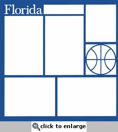 Basketball: Florida 12 x 12 Overlay Laser Die Cut-<font color=red> <b>we &hearts; this</b></font>