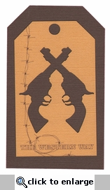 The Western Way: Revolver Tag Laser Die Cut