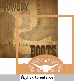 The Western Way: Belts -n- Boots 12 x 12 Overlay Quick Page Laser Die Cut