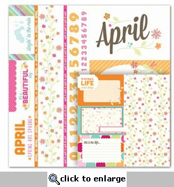 Seasons: April Cut Apart 12 x 12 Double-Sided Paper