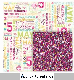 Seasons: May Word Play 12 x 12 Double-Sided Paper