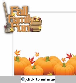 Fall Family Fun 2 Piece Laser Die Cut Kit