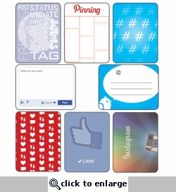 Digital Download: Social Media: Journaling Cards 12 x 12 Paper
