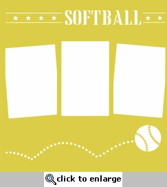 Bouncing Softball 12 x 12 Overlay Laser Die Cut
