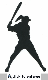 Softball Batter Laser Die Cut