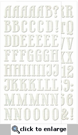 For the Record: Chipboard Alphabet