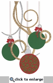 Digital Download: Ornaments Page Corner Glitter Laser Die Cut