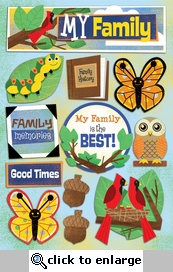 My Family 5 1/2 x 9 1/2 Cardstock Sticker