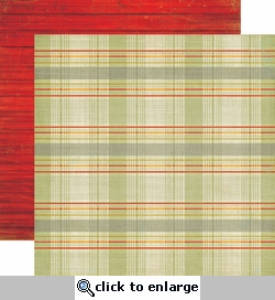 Grandpa's Tool Shed: Plaid 12 x 12 Double-Sided Paper