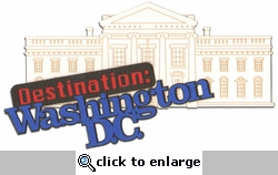 Destination : Washington D.C. Laser Die Cut