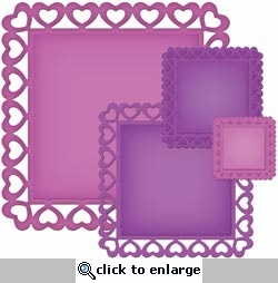 Nestabilities Decorative Elements: Heart Squares Dies